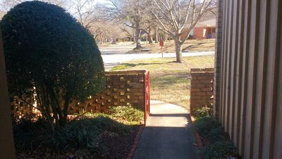 The view of the street from our front door