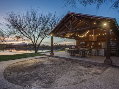 Photo for Relaxing on the Brazos - Horseshoes, Kayaks, Hot Tub, Playground, and more