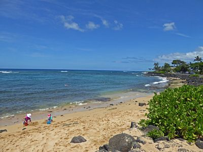Photo for Prince Kuhio #112 One Bedroom, One Bath Condo with Pool, steps to the beach!