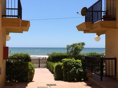 Photo for Direct on the beach, sea. Great sea view and garden. Renovated penthouse