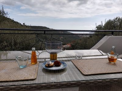 Photo for Ca Gianca 2. Idyllic, well furnished apartment located on quiet a slope within an olive-grove
