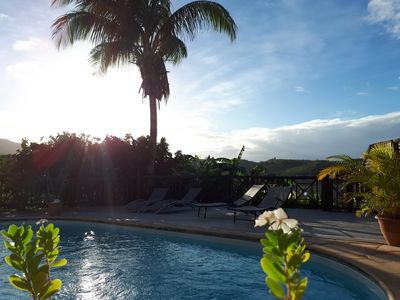 Photo for 3 Îlets: T2 Kasa Creole by the pool, golf view, deck with deckchairs