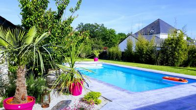 Photo for cottage in longère angevine with swimming pool