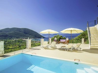 Photo for Villa Ponti - FREE CAR HIRE! Private pool, WI-FI & A/C plus beautiful sea views
