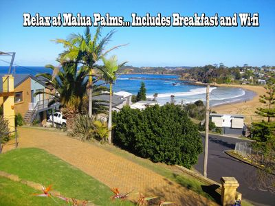 Photo for A  magnificent ocean view  plus 3 mins to cafes, shops, park, playground & path.