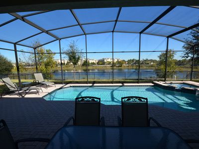 Photo for Windsor Hills Best Private Lake Front Location!!! 6BR Games BBQ Wifi Heated Pool
