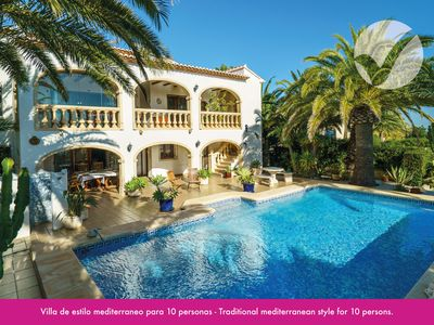 Photo for Mansion for 6 with private pool, sea views and 1.8 km from Cala Moraig