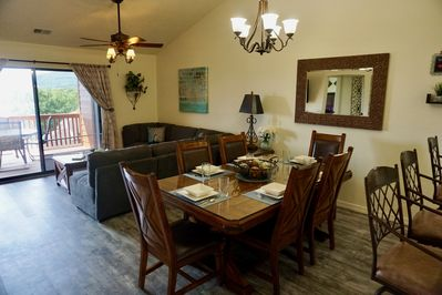 Lots of space with vaulted ceilings in our top floor condo!