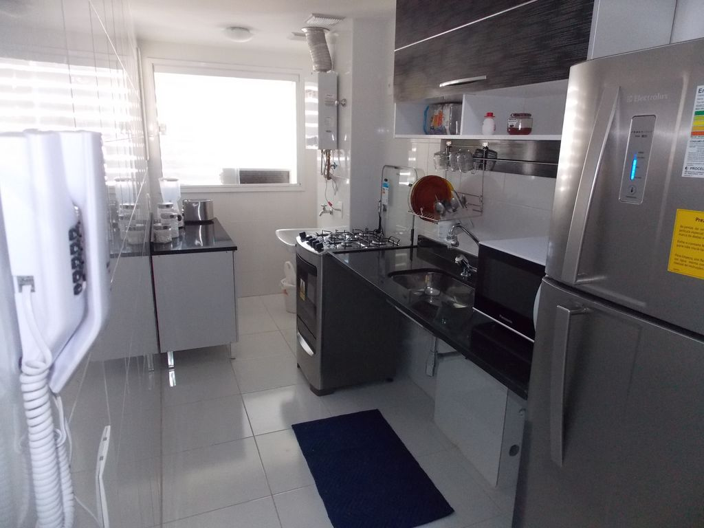 Ap1401: New, 2Q (1 suite), Wifi, garage, pool, balcony c barbecue and sea view