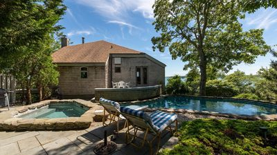 Photo for Breathtaking Southampton Home w/ Water Views in Every Room, Beach Access, Private Pool, Hot Tub