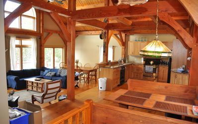 Open timber frame interior