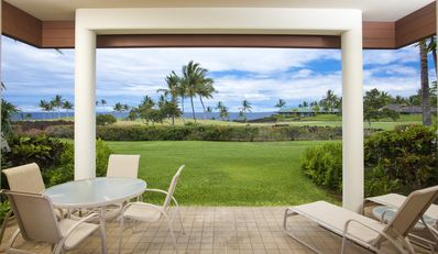 Photo for Ground floor w/ private lanai, ocean views perfect for a family