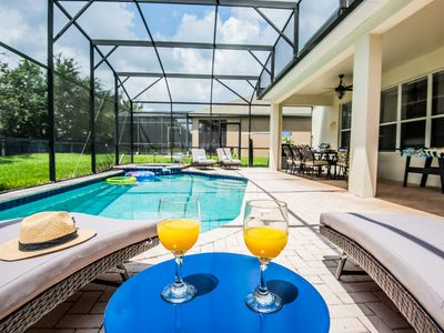 Photo for South Facing Pool W/Free Pool Heat-5 Min To Disney, Themed Bed Rms, Free BBQ