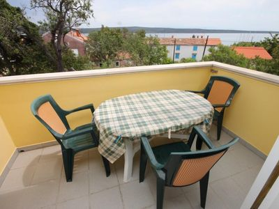 Photo for One bedroom apartment with terrace and sea view Nerezine (Lošinj)