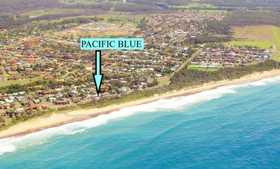 """Photo for """"PACIFIC BLUE""""  Old Bar Beach Cottage, Road Frontage to Beach"""