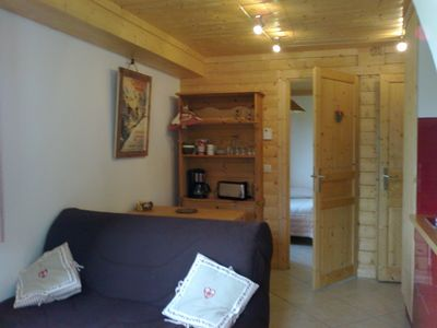 Photo for Mont Blanc: small cozy nest, 3/4 pers, In Chalet in Saint Gervais