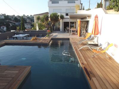 Photo for Contemporary Villa + Pool + Terrace + 2 Parkings seaside Corniche-Marseille