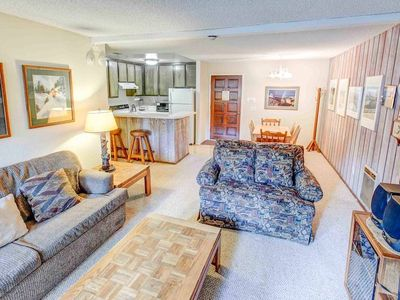 Photo for Charming family friendly condo, private balcony, shared pool & hot tub
