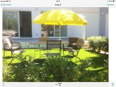 Photo for New three-room apartment, 80 m², for six people, with seaside garden