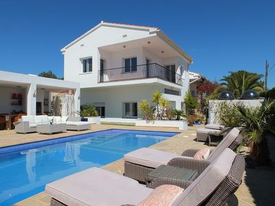Photo for 5 bedroom villa with air-conditioning, 10-15min walk to blue flag sandy beach
