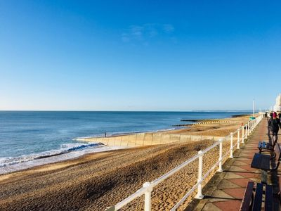 Photo for Wonderful sea views, close to the sea, trendy shops and great and restaurants