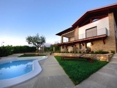 Photo for Villa in the heart of the Langhe with swimming pool, panoramic terrace and green area