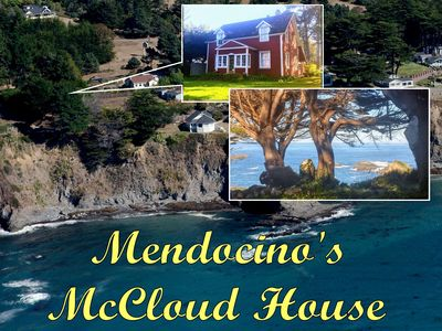Photo for Mendocino's Historic McCloud House Headland Views on the Edge of the Village