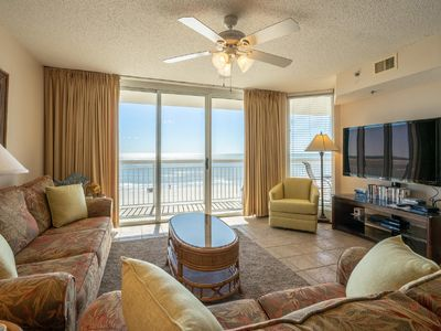Photo for Crescent Shores North Tower 401, Spacious 4 BR Ocean Front with Indoor Outdoor Pools, Hot Tub, Lazy River and Kiddie Pool