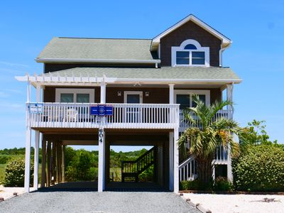 "Photo for ""Latitude Adjustment"" is a Charming 4 bedroom 2 bath Beach Home with Gorgeous views of the Atlantic Ocean, Marshlands and Intracoastal Waterway!"