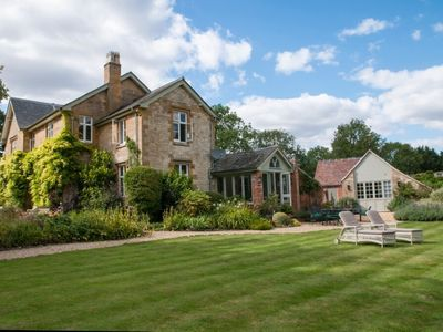 Photo for Simply gorgeous Old Rectory in stunning grounds, tennis, heated pool &hot tub
