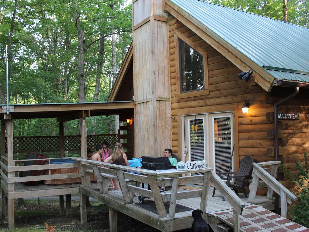 s conservation secluded area hottub with beach pet cabin friendly the in hole smoke home wv luxury from yards person property sleeps bed image hot ha deal at cabins tub