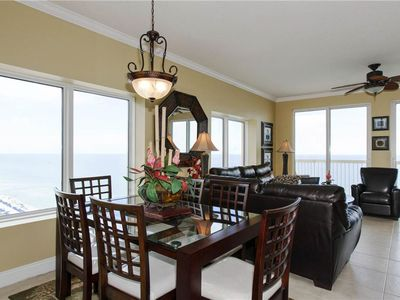Photo for Stylish & spacious waterfront condo w/ a covered balcony, shared pools, & gym