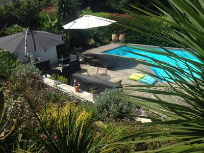 Photo for villa heated pool located on a golf course 15 minutes from Biarritz