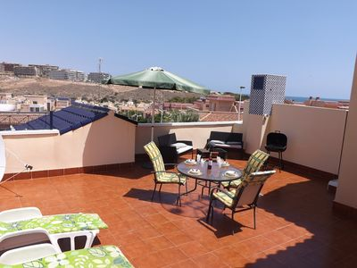 Photo for Carabassi Beach - Modern 2 Bedroom  Apartment with Solarium, Overlooks the Poo