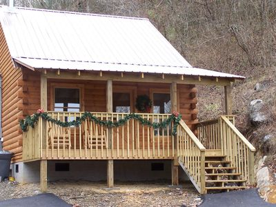 Photo for Cozy Cove - Romantic cabin for two!! Hot Tub, Whirlpool Bath, Pool Table & More