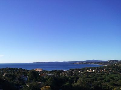 Photo for Large villa (300m2) swimming pool not overlooked exceptional view bay Saint-Tropez