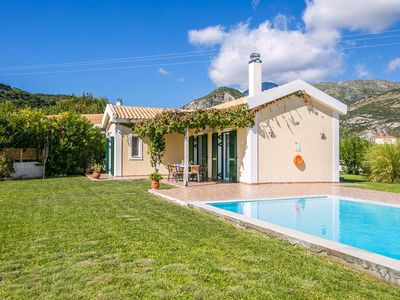 Photo for Villa Melissa: Large Private Pool, Walk to Beach, Sea Views, A/C, WiFi, Car Not Required