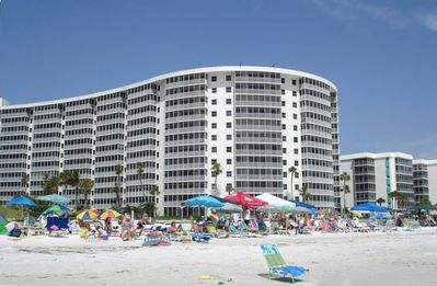 #1005 is 3rd Stack from Right. Chaises provided. Cabanas for two can be rented.