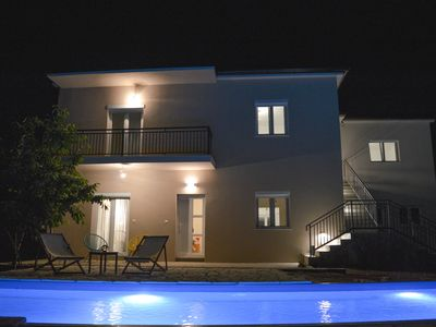 Photo for This 4-bedroom villa for up to 8 guests is located in Biograd / Biograd Na Moru and has a private sw