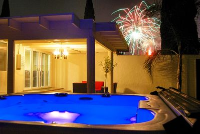Enjoy the Disney Fireworks from the New Hot Tub  No this is not Photoshopped!