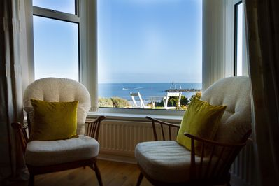 Ocean view from sitting room