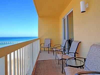 Photo for Spacious, waterfront condo w/ a furnished balcony, shared pools, & fitness room