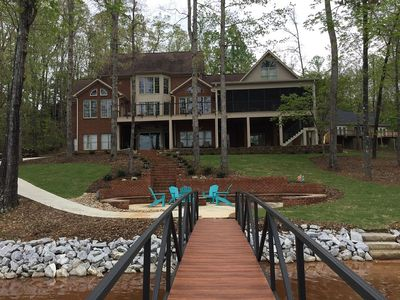 Photo for Keowee Waterfront Vacation Home - 9 Bedroom Family Getaway