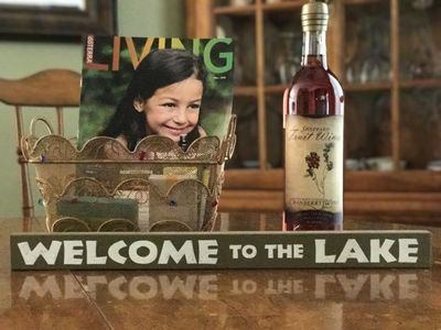 Enjoy your Welcome to Point Harns Gift Basket with our local Cranberry Wine.