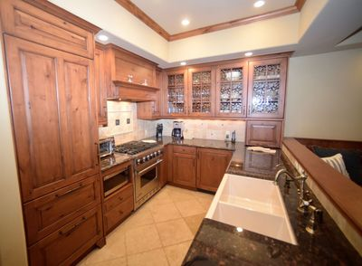 Updated fully stocked Kitchen with two subZero fridges, granite counters