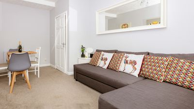 Lounge with Large Sofa Bed