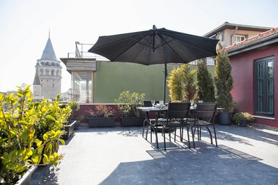 View of Galata Tower - private terrace