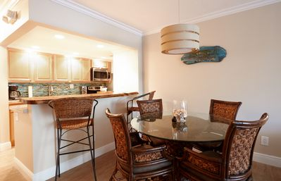 Newly remodeled kitchen and dining room. Relax, enjoy and entertain.