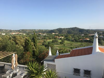 View from front balcony over the countryside.