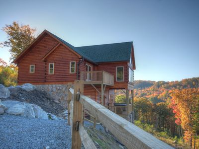 Photo for 4BR Cabin, Hot Tub, Big Views, Game Room, Gas Log Fireplace, HDTV, 2 Masters Suites, Banner Elk